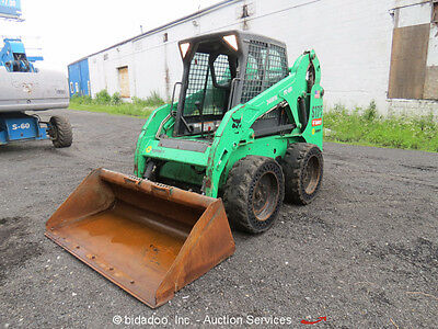 2011 Bobcat S175 Skid Steer Wheel Loader Enclosed Cab Kubota Diesel Aux Hyd
