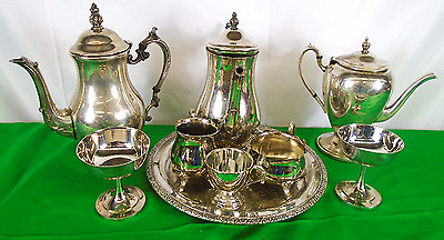 TESTED Lot of 9 Vintage Silver Plated Dinnerware Items-Various Makers(650)