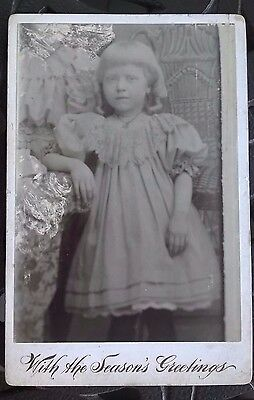 Vintage 1800's/1900s  PHOTO CABINET - YOUNG LADY