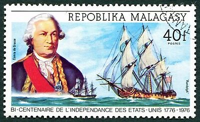 MALAGASY REPUBLIC 1975 40f SG305 used NG American Revolution Bicentenary #W32