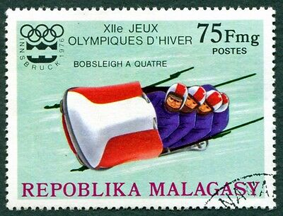 MALAGASY REPUBLIC 1975 75f SG330 used NG Winter Olympic Games Innsbruck #W32