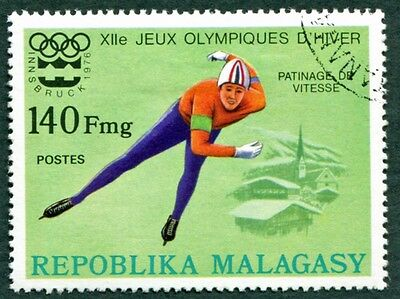 MALAGASY REPUBLIC 1975 140f SG332 used NG Winter Olympic Games Innsbruck #W32
