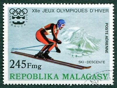 MALAGASY REPUBLIC 1975 245f SG334 used NG Winter Olympic Games Innsbruck #W32
