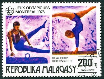 MALAGASY REPUBLIC 1976 200f SG341 used NG Olympic Games Montreal #W32