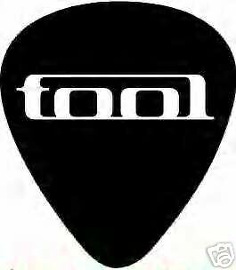 Tool Logo Guitar Pick 4 Count Black White New