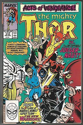 Thor #412 Near Mint (9.4) Condition! First New Warriors!