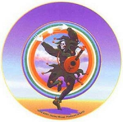 """Dancing Jester Stanley Mouse 5"""" Round Sticker Grateful Dead New"""