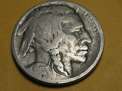 1915 D Buffalo Five Cent Nickel * DENVER MINT * NICE ORIGINAL COIN *