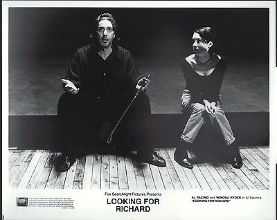 Looking For Richard 1996 8x10 Black & white glossy photo #nn