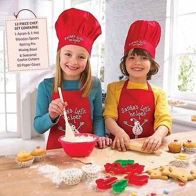 "Christmas - Kids 12 Piece ""Santa's Little Helper"" Chef Set"