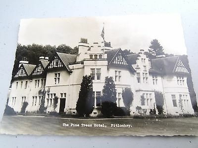 Vintage Pine Trees Hotel Pitlochry Real Photo Advertising Guest  Postcard