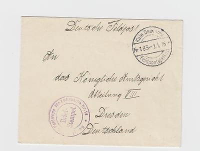Airships: Germany, WWI: FL 14 seal on 1916 cover from Hungary