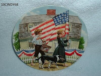 """1978 Edwin M. Knowles """"the Fourth Of July"""" By Don Spaulding Collector Plate"""