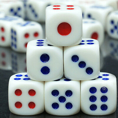 20PCS Standard Spot Six Sided Dice Bar Club Table Board Roleplay Game Toys 10mm