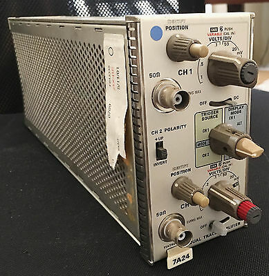 Tektronix 7A24  Plug-In - 400 MHz Dual-Channel Amplifier 7000 7900 Oscilloscope