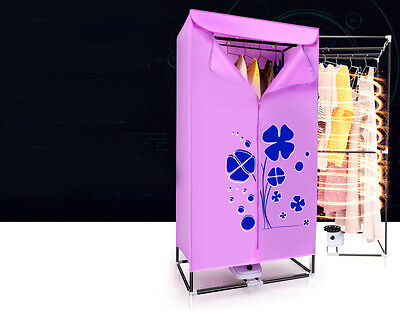 Pink Portable Mute Home Energy-saving Rotary Switch Electric Air Clothes Dryer..