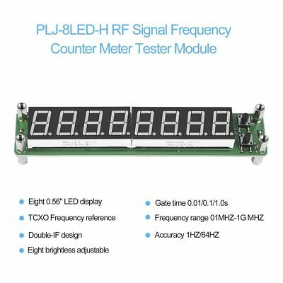 PLJ-8LED-H RF Signal Frequency Counter Meter Tester Module 0.1~1000MHz LED GK