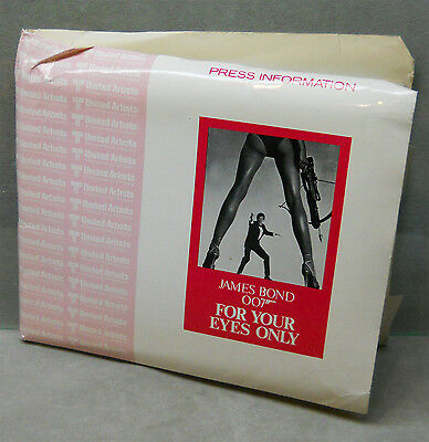 1982 James Bond For Your Eyes Only Movie Press Kit Roger Moore.
