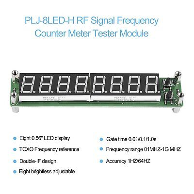 PLJ-8LED-H RF Signal Frequency Counter Meter Tester Module 0.1~1000MHz LED XRAU