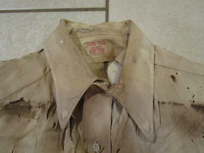 VINTAGE DESTROYED 1930's - 40's TRIED AND TRUE GUSSET FARM WORK SHIRT