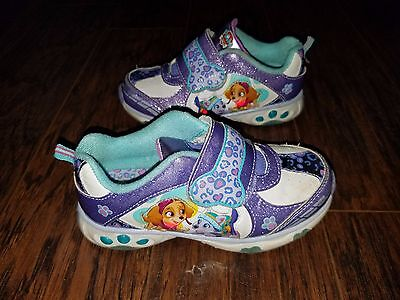 Girls Kids Paw Patrol Light Up Shoes Size 12 Youth 12 Child Skye & Everest