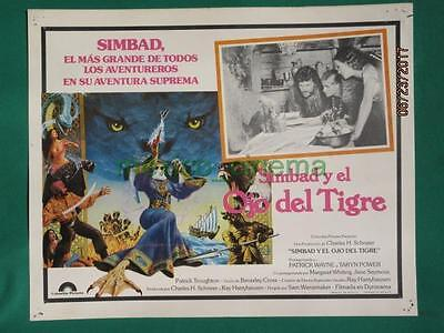 Sinbad And The Eye Of The Tiger Ray Harryhausen Monsters Mexican Lobby Card