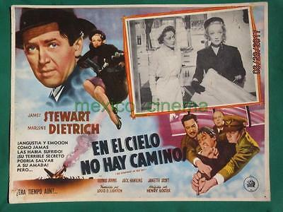 Marlene Dietrich No Highway In The Sky James Stewart Spanish Mexican Lobby Card