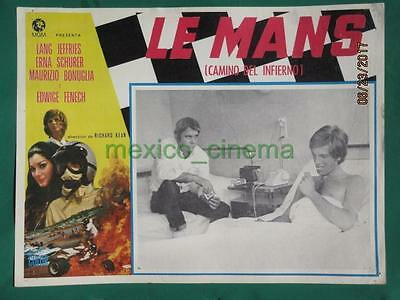 Le Mans Shortcut To Hell Racing Edwige Fenech Grand Prix Mexican Lobby Card 7