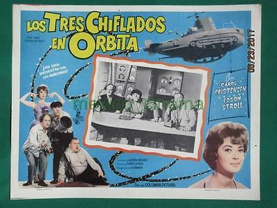 The Three Stooges In Orbit Carol Christensen Original Spanish Mexican Lobby Card