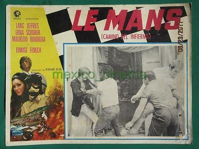 Le Mans Shortcut To Hell Racing Edwige Fenech Grand Prix Mexican Lobby Card 1