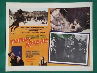 Lex Barker Last Of The Renegades Winnetou -2 Teil Western Mexican Lobby Card 1