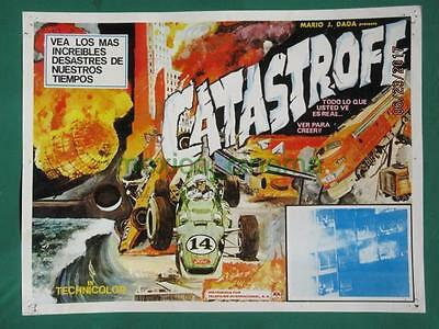 Catastrophe Racing Cars Documentary Zeppelin Disaster Mexican Lobby Card 4