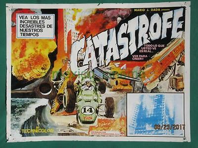 Catastrophe Racing Cars Documentary Zeppelin Disaster Mexican Lobby Card 1