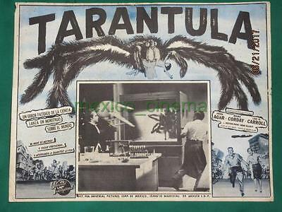 TARANTULA Horror JOHN AGAR Monster GIANT SPIDER ORIG SPANISH MEXICAN LOBBY CARD