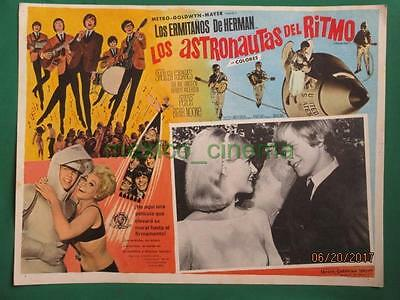 Herman's Hermits Hold On! Shelley Fabares Spaceship Spanish Mexican Lobby Card 1