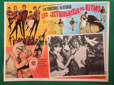 Herman's Hermits Hold On! Shelley Fabares Spaceship Spanish Mexican Lobby Card 6