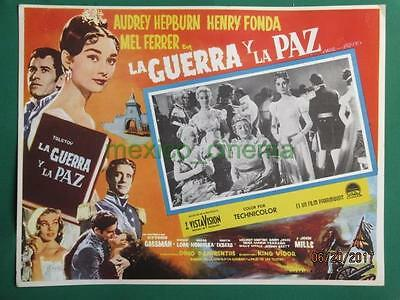Audrey Hepburn War And Peace Henry Fonda Original Spanish Mexican Lobby Card 1