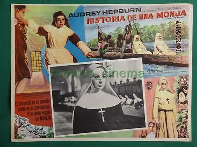 Audrey Hepburn The Nun's Story Peter Finch Original Spanish Mexican Lobby Card 6