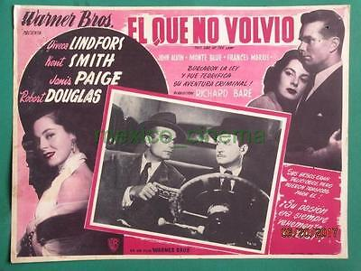 Viveca Lindfors This Side Of The Law Kent Smith Film-Noir Mexican Lobby Card