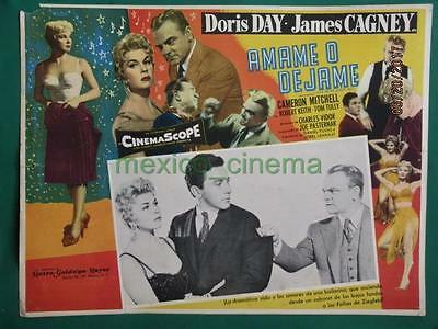 JAMES CAGNEY DORIS DAY LOVE ME OR LEAVE ME Ruth Etting MEXICAN LOBBY CARD 1