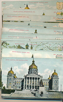 Group of 25 vintage State Capital Postcards