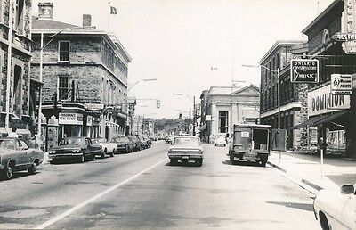 Galt Ontario view of Main St. Real Photo 60's