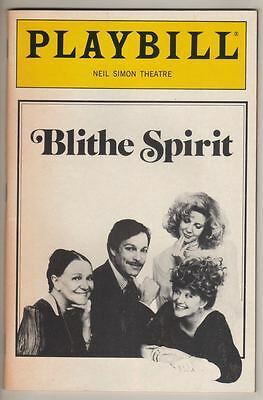"Richard Chamberlain   Playbill  ""Blithe Spirit""   1987   Broadway  Noel Coward"