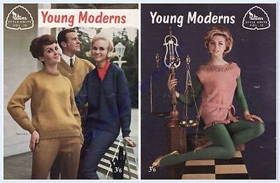 PATONS VINTAGE STYLE KNITS VOL 20 LADYS' and MENS 31 to 43 inches c1960's