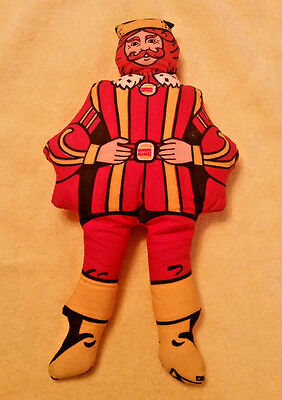 """Vintage Burger King 1970's """"king"""" Promotional Advertisement Doll Made In Usa"""