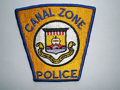 Panama Canal Zone Police vintage authentic patch Central American
