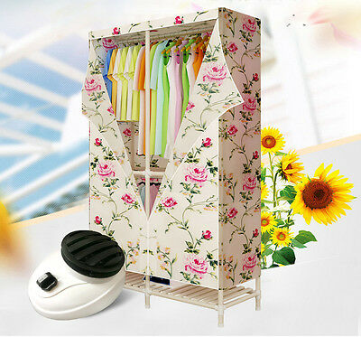 Flower Portable Wood Home Energy-saving Rotary Switch Electric Air Clothes Dryer