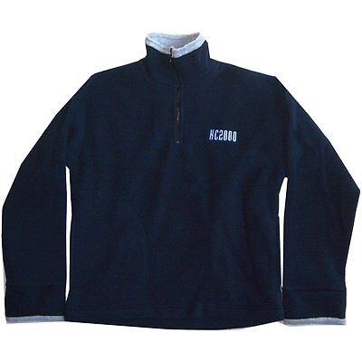 King Crimson Kc2000 Embroidered Logo Blue Fleece Jogger Sweatshirt Small New Nos