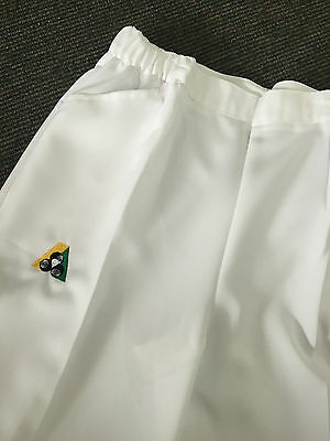 Holland Park BA Logo Bowls Australia LADIES Lawn Bowls Shorts WHITE