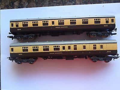 Model Trains Ho/oo 2 Great Western Carriages